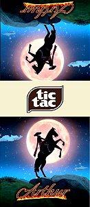 Adesivo personalizado para TicTac Zorro