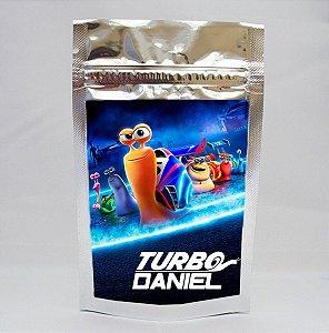 Saco metalizado com tag e corrente  Turbo Fast