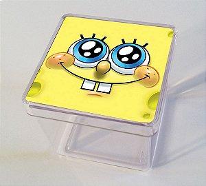 Adesivo caixinha acrílica 5x5 Bob Esponja