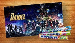 Adesivo para Mentos Vingadores: Guerra Infinita