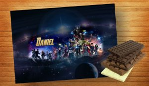 Adesivo para barra de chocolate Vingadores: Guerra Infinita