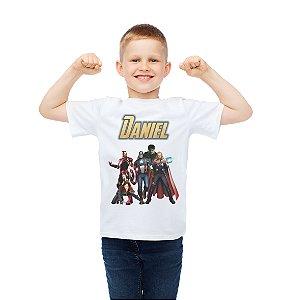 Camiseta Infantil Vingadores: Guerra Infinita