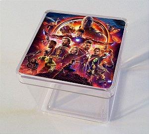 Adesivo caixinha acrílica 5x5 Vingadores: Guerra Infinita