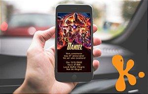 Convite personalizado para WhatsApp Vingadores: Guerra Infinita