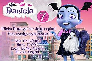 Convite digital personalizado Vampirina 001