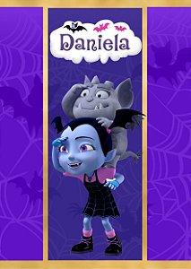 Adesivo personalizado para bisnaguinha de brigadeiro Vampirina