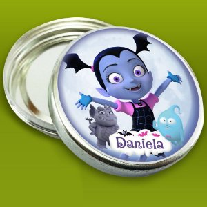 Latinha de aluminio 5 cm personalizada Vampirina