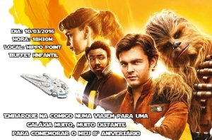 Convite digital personalizado Han Solo: Uma História Star Wars 013
