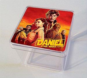 Adesivo caixinha acrílica 5x5 Han Solo: Uma História Star Wars