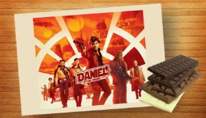 Adesivo para barra de chocolate Han Solo: Uma História Star Wars