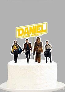 Topo de Bolo Personalizado Han Solo: Uma História Star Wars