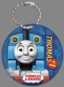 Tag com Correntinha 5 x 5 cm Thomas e Seus Amigos