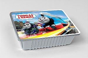 Tampa para marmitinha personalizada Thomas e Seus Amigos