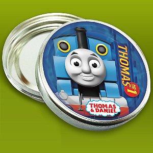 Latinha de aluminio 5 cm personalizada Thomas e Seus Amigos