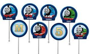 Embalagem com 40 toppers para docinhos Thomas e Seus Amigos