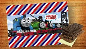 Adesivo para barra de chocolate Thomas e Seus Amigos