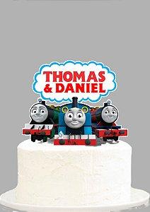 Topo de Bolo Personalizado Thomas e Seus Amigos
