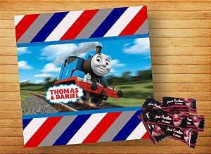 Adesivo para bala personalizado Thomas e Seus Amigos