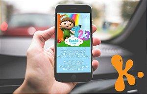 Convite personalizado para WhatsApp Baby TV Charlie e os números