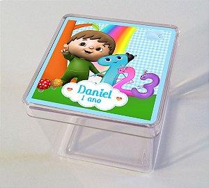 Adesivo caixinha acrílica 7x7 Baby TV Charlie e os números