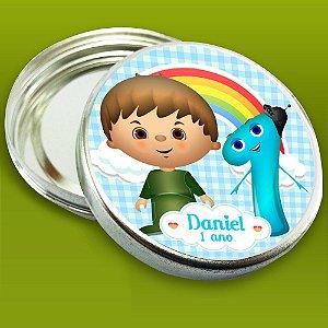 Latinha de aluminio 7 cm personalizada Baby TV Charlie e os números