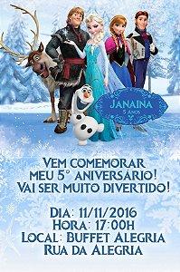 Convite digital personalizado Frozen - O Reino do Gelo 020