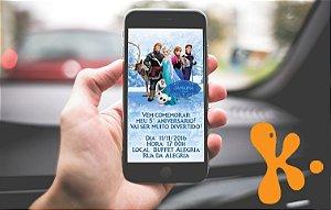 Convite personalizado para WhatsApp Frozen - O Reino do Gelo