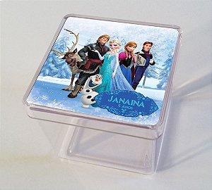 Adesivo caixinha acrílica 5x5 Frozen - O Reino do Gelo