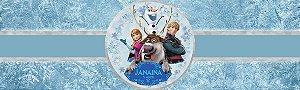 Rótulo água Frozen - O Reino do Gelo