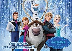 Cartão de Agradecimento Frozen - O Reino do Gelo