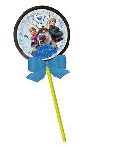 Adesivo personalizado para pirulito Frozen - O Reino do Gelo