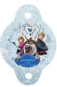 Tag para canudinho Frozen - O Reino do Gelo