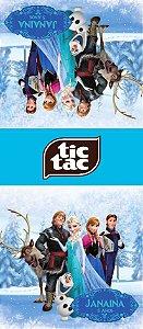 Adesivo personalizado para TicTac Frozen - O Reino do Gelo