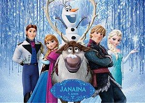 Painel TNT 1,40mx1m Frozen - O Reino do Gelo