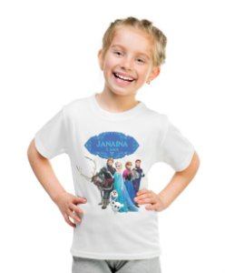 Camiseta Infantil  Frozen - O Reino do Gelo