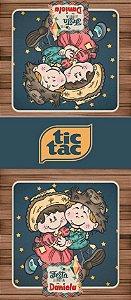 Adesivo personalizado para TicTac Festa Junina