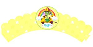 Pacote com 6 Wrappers Draco Baby TV