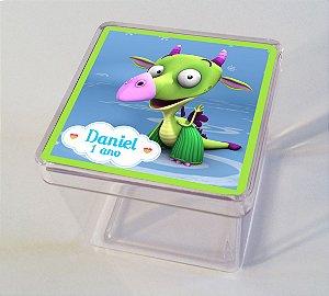 Adesivo caixinha acrílica 5x5 Draco Baby TV