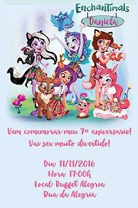 Convite digital personalizado Enchantimals 002