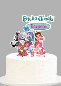 Topo de Bolo Personalizado Enchantimals