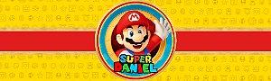 Rótulo água Super Mario