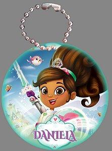 Tag com Correntinha 5 x 5 cm Nella, uma Princesa Corajosa