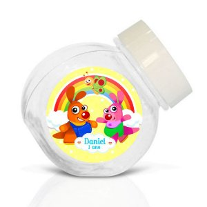 Embalagem com 40 adesivos baleirinho Baby TV Kenny & Goorie
