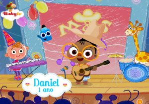 Painel TNT Baby TV Mona and Sketch