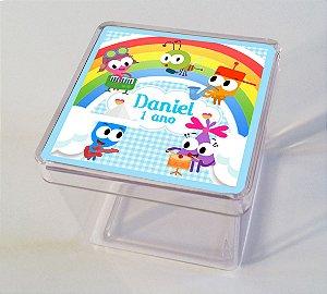 Adesivo caixinha acrílica 5x5 Baby TV Choopies