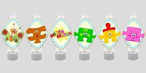 Embalagem com 24 apliques para Tubete Baby TV Mitch Match