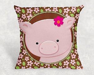 Almofada Personalizada para festa Fazendinha Rosa 005