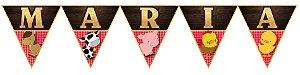 Bandeirinha Personalizada Fazendinha