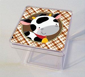 Adesivo caixinha acrílica 5x5 Fazendinha