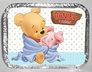 Marmitinha Personalizada com Imâ de Geladeira Baby Pooh